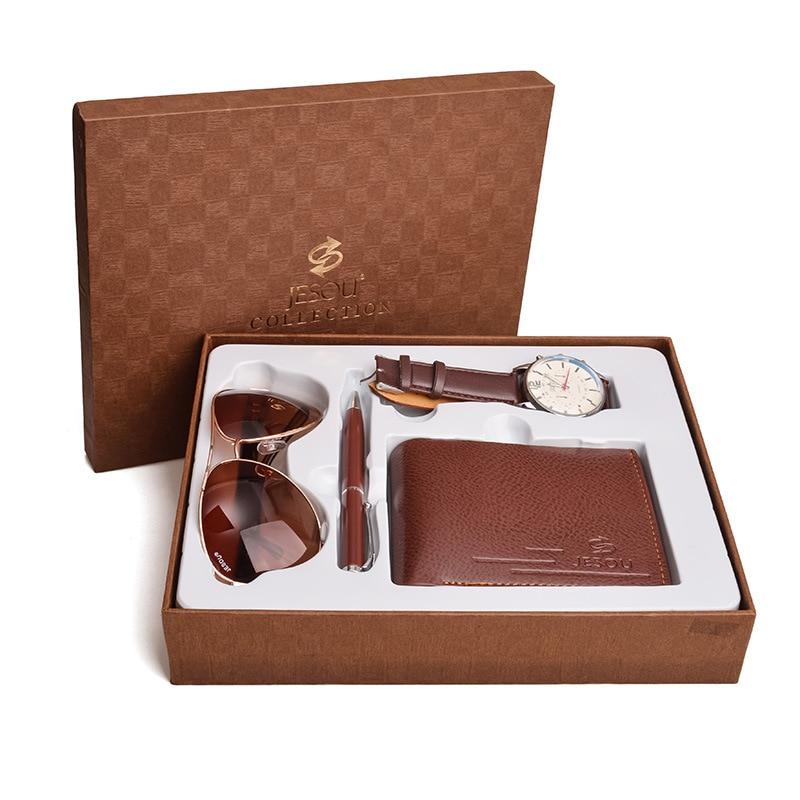 Relogio 2021 الرجال الطلب الكبير موضة شخصية ساعة كوارتز رجالية طقم هدايا عيد الأب هدية الأعمال صديقها هدية عيد ميلاد