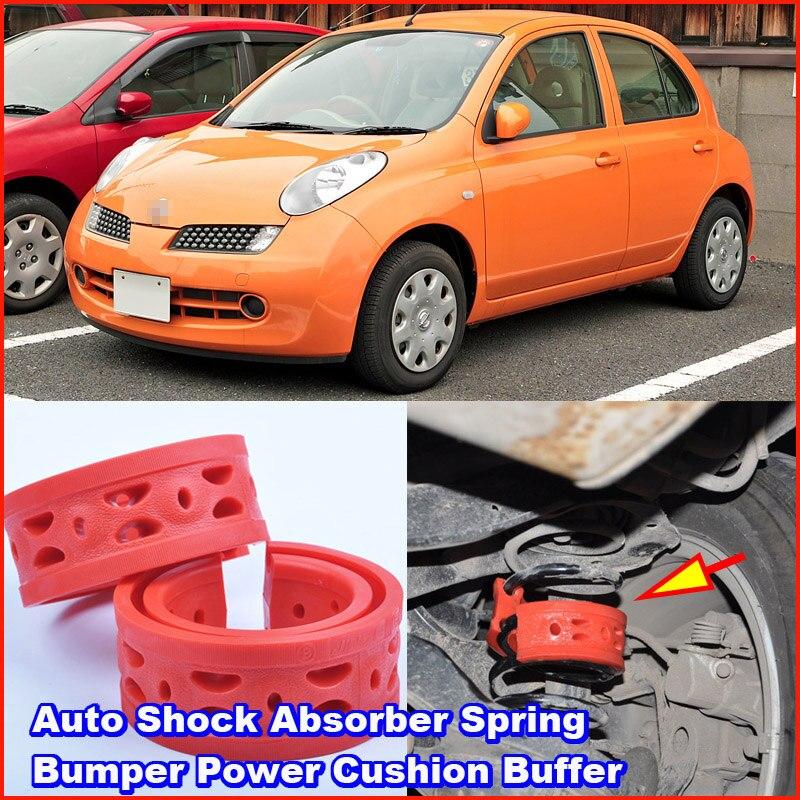 Para NISSAN March Car Coil spring buffer resorte amortiguador de coche potencia de parachoques amortiguador Amortiguador delantero o trasero