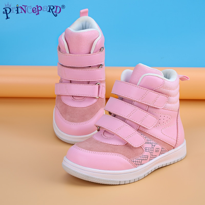 Princepard Toddler Orthopedic Sneakers Boys Girls Boots Orthotics Shoes with Insoles Arch Support Kids Flatfoot Walking Footwear enlarge