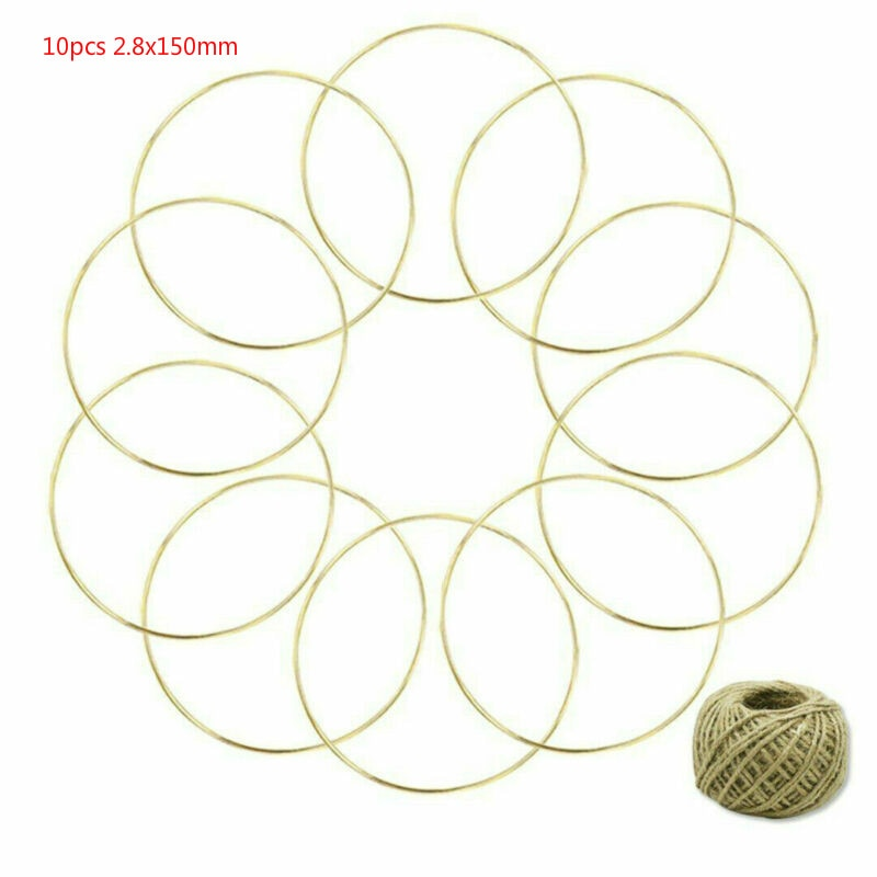 10pcs 2.8*150mm golden ring dream catcher, ring lace craft hoop fanatic, used for dream catcher hoop hanging type DIY connector