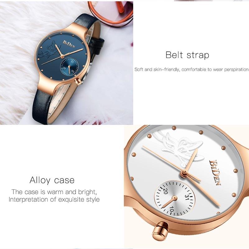 Women Watches Top Brand Luxury Fashion Female Quartz Wrist Watch Ladies Leather Waterproof Clock Girl Relogio Feminino enlarge