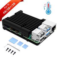 for Raspberry Pi 4 Model B Case with Aluminum Alloy Heatsink Pillar