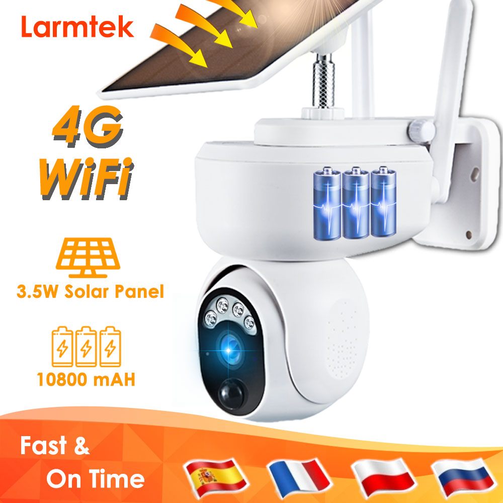Video Surveillance Camera 4G SIM Card Solar IP Camera WiFi CCTV Outdoor Home Security Camera PIR Motion Detection Two Way Audio