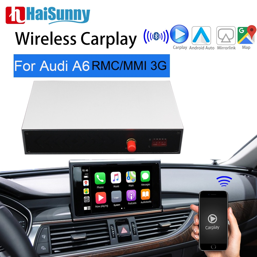 Review Wireless CarPlay For Audi A6 C7 MMI RMC Carplay Support OEM Retrofit GPS Niva Reverse Camera Screen Adapter Android Auto Upgrade