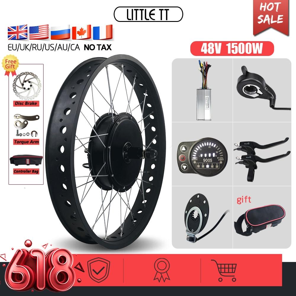 AliExpress - Electric Fat Bike 48V 1500W Rear Cassette Hub Motor Wheel 20 26 inch rear 170mm 190mm ebike kit For Ebike Conversion Kit