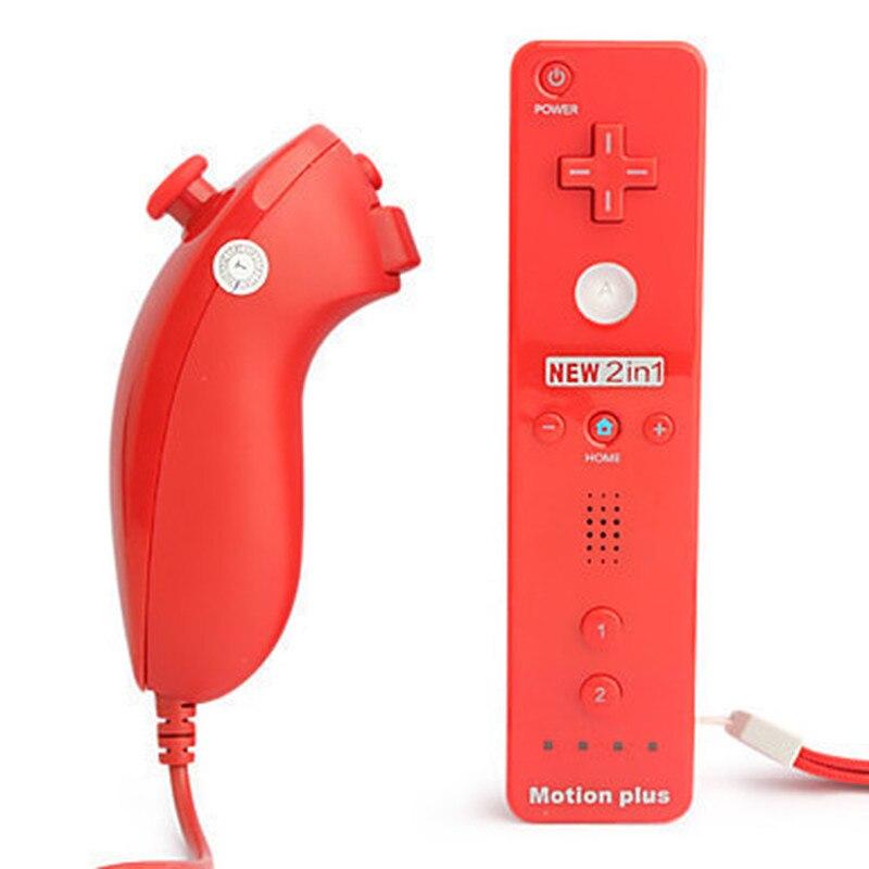 Беспроводной пульт управления 2 в 1, встроенный пульт дистанционного управления Motion Plus для Nintendo Wii 4001101189061, аксессуары для игровых приставок ...