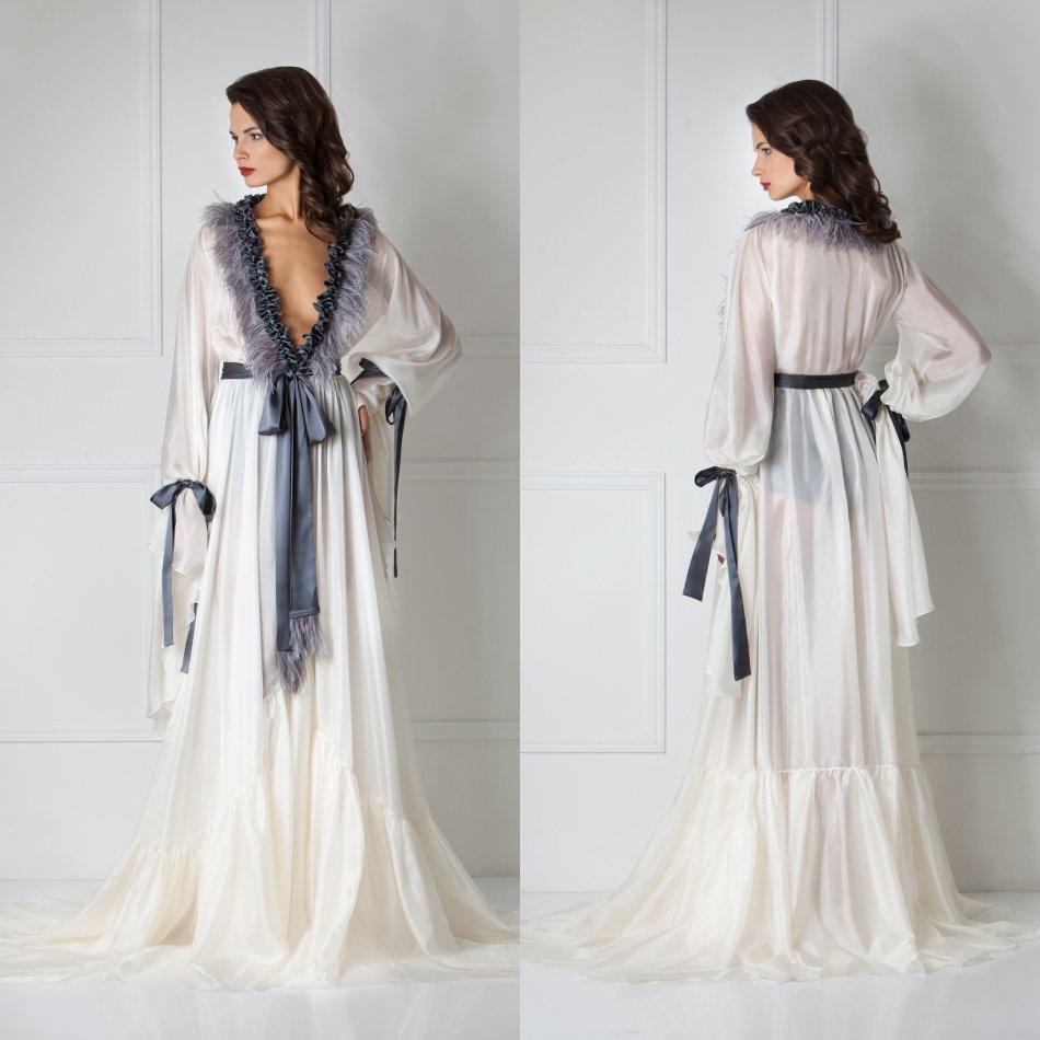 V pescoço roupão para mulher renda lingerie pijamas pijamas sleepwear manga longa vestidos de noiva envoltório housecoat nightwear