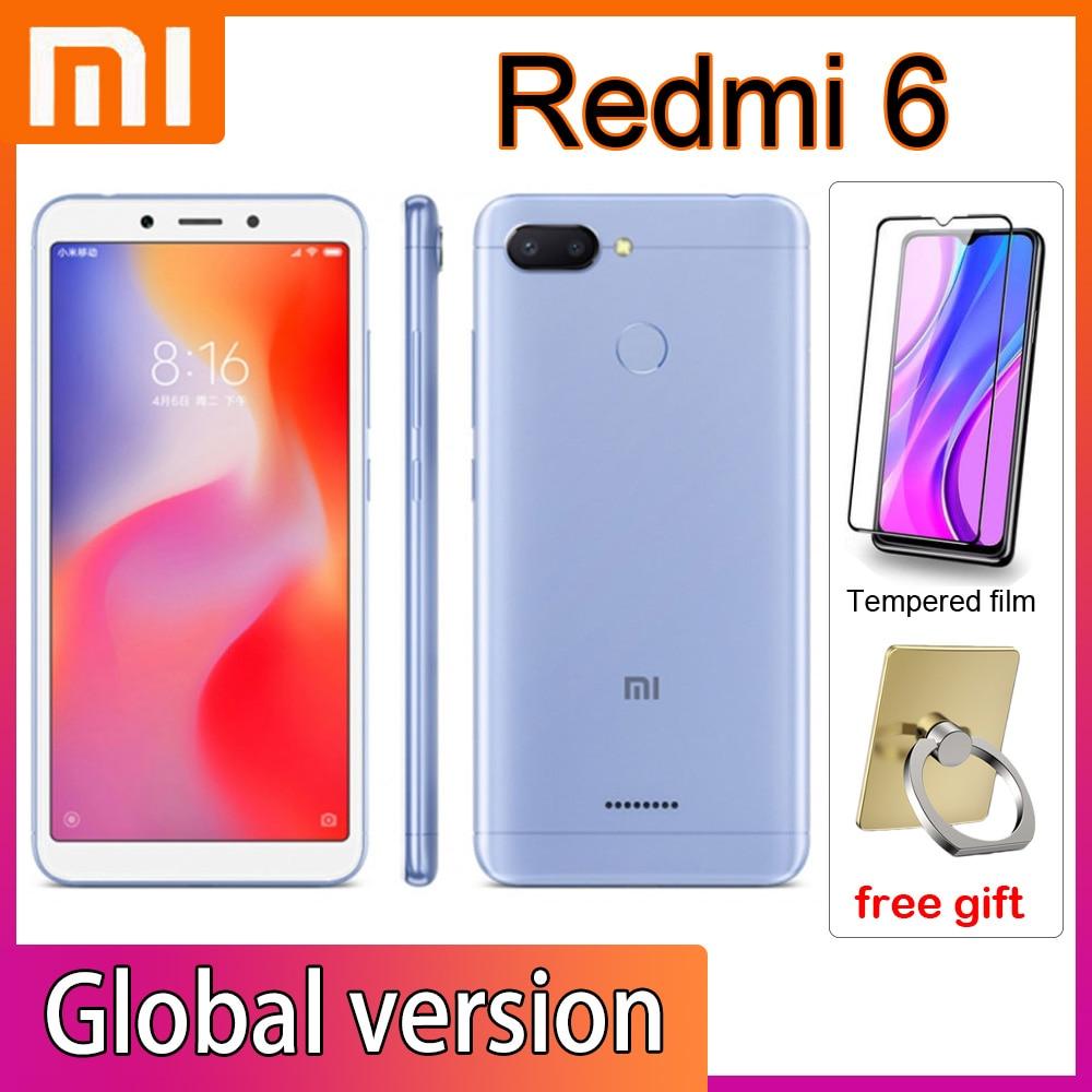 Xiaomi-teléfono móvil Redmi 6, smartphone con Google Market, marco Global, desbloqueo facial,...