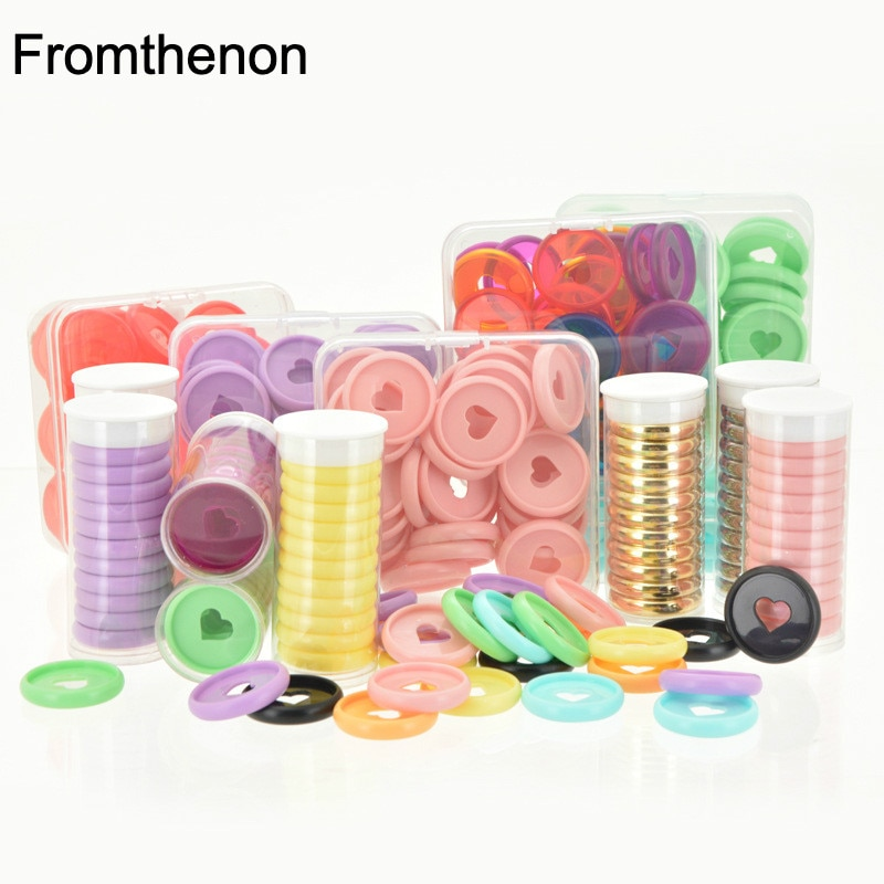 Mushroom Hole Binding Buckle 28mm Love Heart Discbound Discs Ring Suitable for Loose Leaf Notepad Planner Diary Book Business