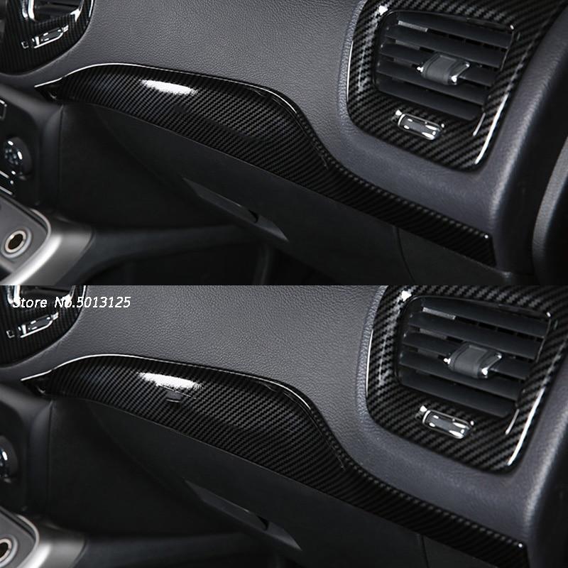 Consola Central de coche, ajuste de co-pilot para Jeep Compass 2017 2018 2019, Kits interiores, decoración de Panel lateral de copiloto para pasajeros