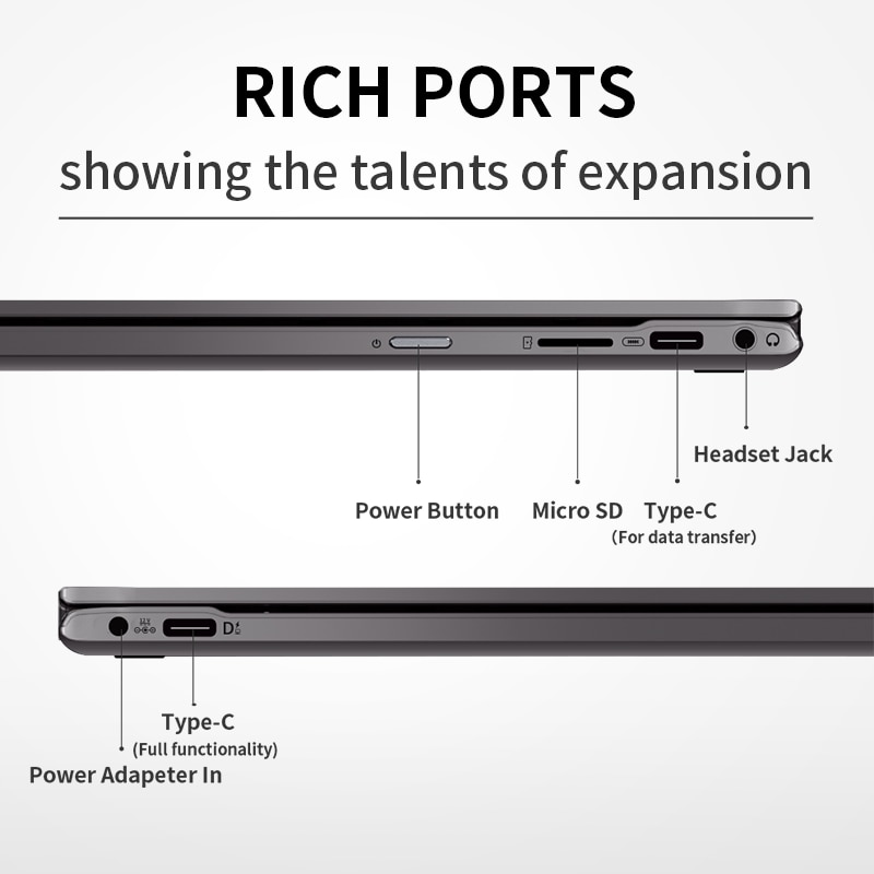 BMAX Y13 Pro Intel Core m5-6Y54 360° Laptop 13.3 inch NotebookWindows 10 8GB RAM 256GB SSD 1920*1080 IPS touch screen laptops PC