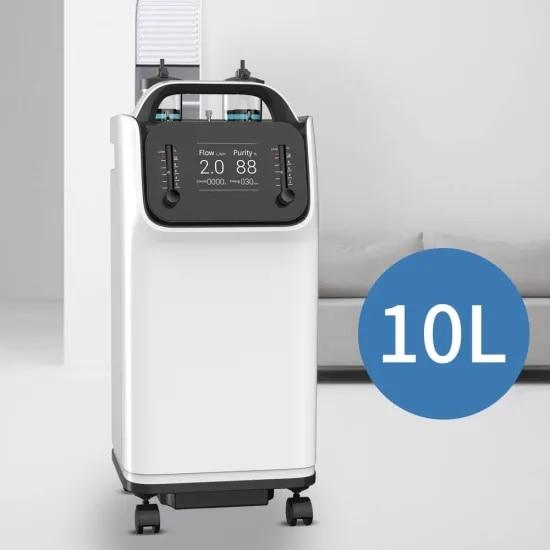 10L معدات طبية البخاخات المنزلية المحمولة الهواء مُكثّف أوكسجين تدفق مزدوج