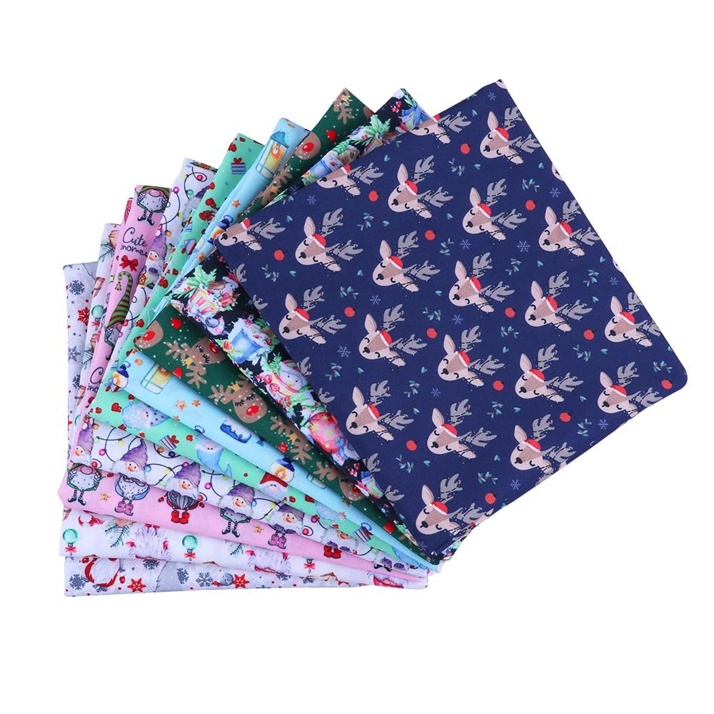 Patrón de Navidad de 50*140CM, tela de algodón de poliéster, parche impreso para tejido de niños, textil para costura, cortina para vestido de muñeca