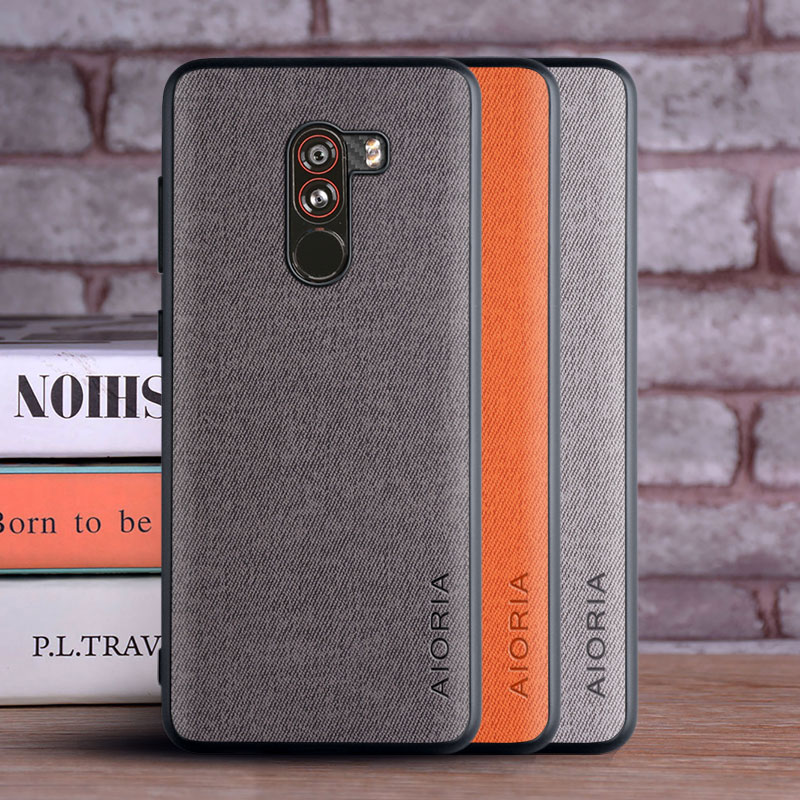 Case for Xiaomi Pocophone F1 coque Luxury textile Leather skin soft hard phone cover for xiaomi poco