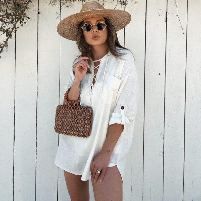 Teelynn manga longa algodão branco linho blusa feminina camisa 2020 casual com decote em v rendas acima blusas soltas oversize tamanho grande superior blusa