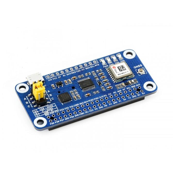Waveshare MAX-M8Q GNSS sombrero para Raspberry Pi, Multi-constelación recibidor compatible con, GPS, Beidou, Excel, GLONASS