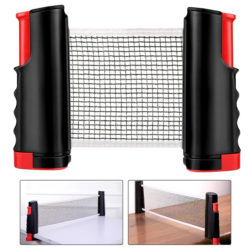 professional metal table tennis table net post ping pong table post net table tennis equipment body building fitness strength Retractable Table Tennis Net Portable Professional Ping Pong Post Net Rack Family Entertainment Workout Fitness Tennis Equipment