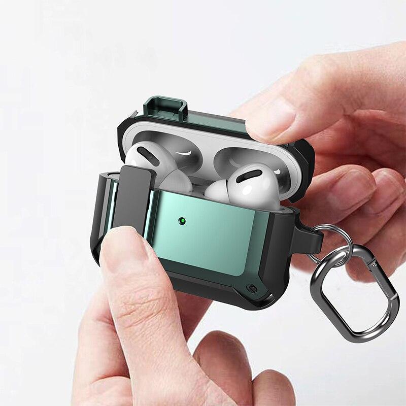 Чехол для переключателя Airpods Pro, чехол из ТПУ и поликарбоната, защитный чехол для Apple AirPods 3, 2, чехол, аксессуары, беспроводные наушники с брело... чехол