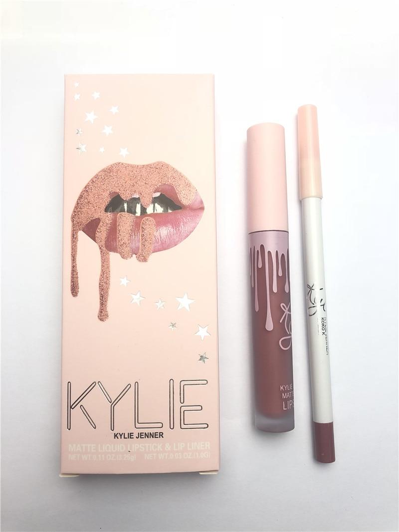 2020 labios KYLIE brillo lápiz labial mate + maquillaje en lápiz para labios impermeable duradera brillo de labios líquido kilie lápiz labial kyliejenner, maquiagem