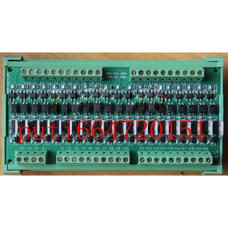20 canais plc placa de amplificador pnp saída entrada universal 2 folhas
