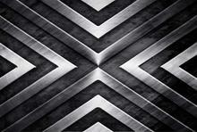 Milofi nach 3D tapete wandbild metall stahl platte textur schneiden linie schwarz und weiß hintergrund wand dekoration malerei wand