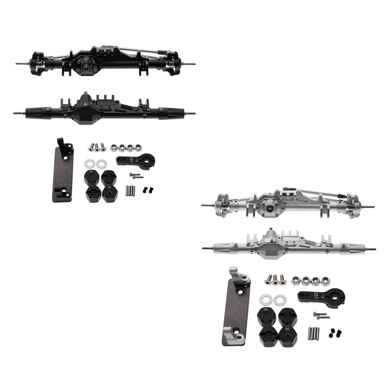 RC سيارات كاملة سبائك الألومنيوم الجبهة الخلفية المحور ل 1/10 RC الزاحف محوري الريث 90018 90045 RR10 90048 90053