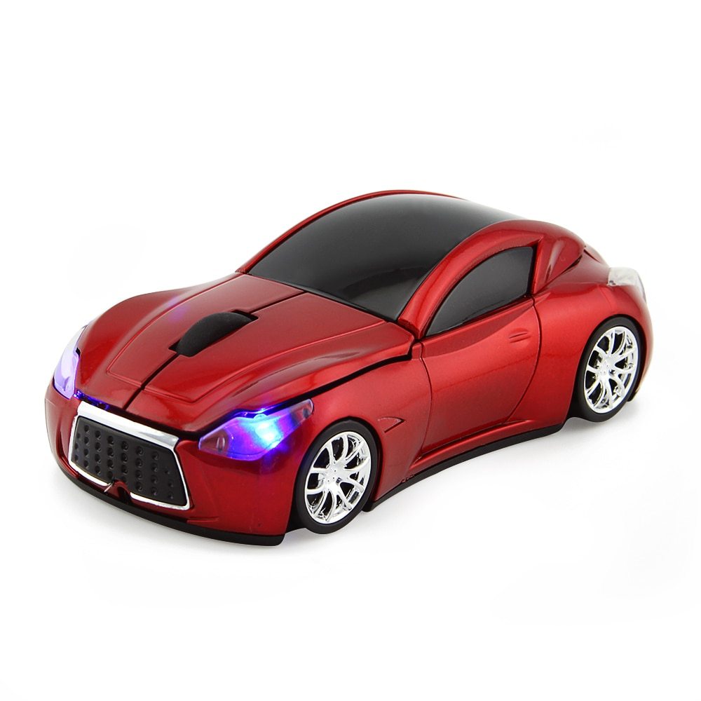 2.4G Car Shape Wireless Mouse USB Optical Computer Mini 3D Creative Mause 1600DPI Mice With LED Light Gift For Kid For PC Laptop