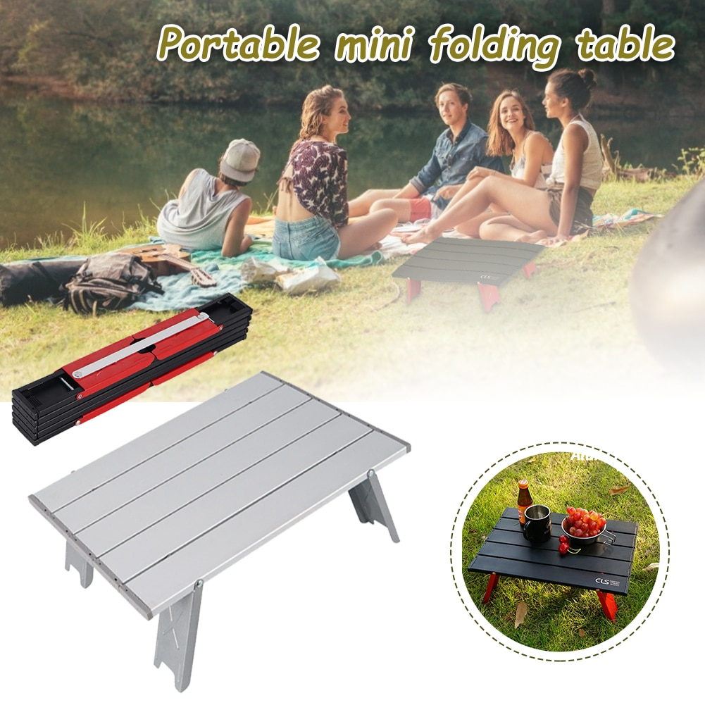 Camping Mini Portable Foldable Table for Outdoor Picnic Barbecue Tours Tableware Ultra Light Folding Computer Bed Desk