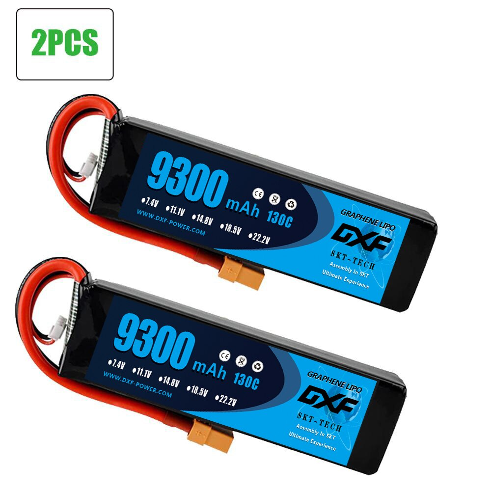 2PCS DXF RC Car Lipo Battery 2S 7.4V 10000mah 60C 7.4V 9300mah 130C XT90 / XT60  T Plug For Rc Airplane  RC Car RC Truck enlarge