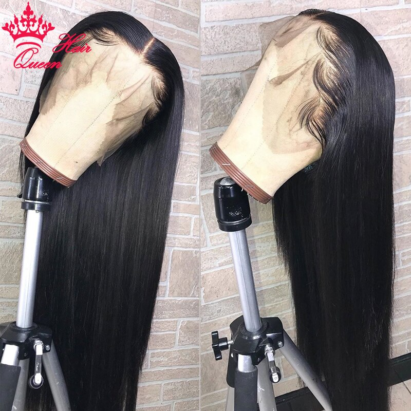 360 Lace Frontal Wigs Straight For Black Women with Baby Hair Brazilian Human Hair wig Lace Front Wig Queen Hair Official Store