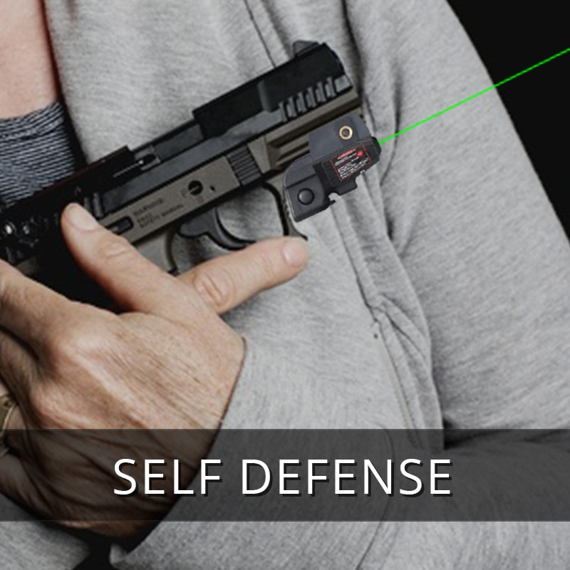 Tactical mira laser verde vista para pistola mini tamanho recarregável laser auto defesa armas glock 17 19