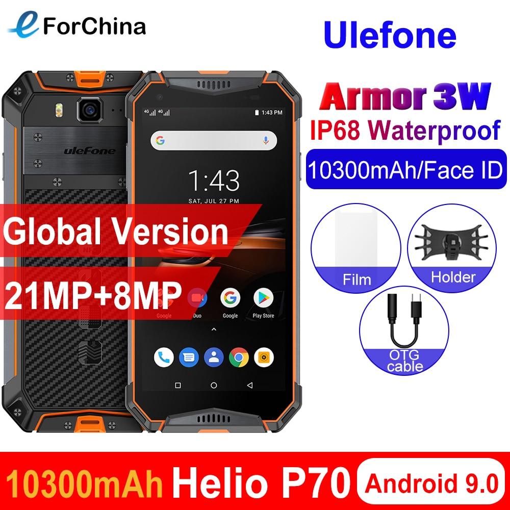 Перейти на Алиэкспресс и купить Ulefone power 3 Вт IP68 Водонепроницаемый Android 9,0 мобильные телефоны 5,7 дюймHelio P70 6G + 64G Face ID NFC глобальная версия смартфона 10300 мАч