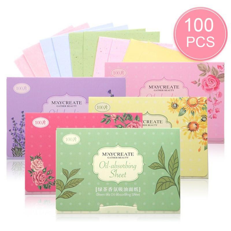 100PCS/Pack Facial Oil Blotting Sheets Paper Facial Oil Blotting Oil Control Paper Cleansing Face Oil Control Absorbent Cosmetic