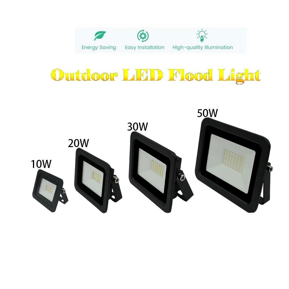 220V LED FloodLight Reflector Spotlight outdoor Exterior Street wall Light lamp Sensor Outdoor Garden Path Emergency Lamp lumina