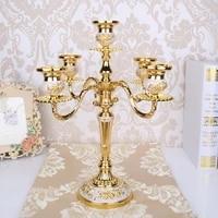 gold luxury candlestick holder mould european wedding candlestick holder table centerpieces dekoracje slubne home decor yd50zt