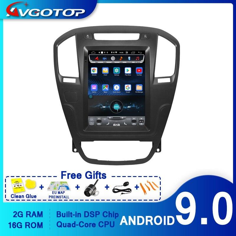 AVGOTOP Android 9,0 Tesla vertical Radio del coche de la pantalla GPS Multimedia para el OPEL INSIGNIA 2008-2011 vehículo reproductor de DVD