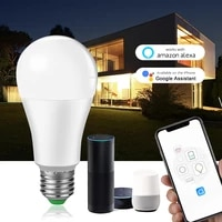 ampoule led e27 wifi smart bulb 15w b22 voice dimmable light ampolleta parlante wifi lamp work with google assistentehome alexa