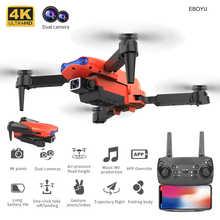 EBOYU K3 RC Drone 2.4Ghz 4K Dual Cams WiFi FPV Remote Control Drone Altitude Hold One-Key-Return Foldable RC Quadcopter Toy RTF