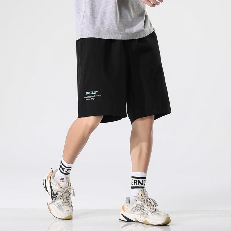 ANSZKTN мужские модные спортивные пляжные шорты бодибилдинг спортивные брюки для фитнеса, бега короткие шорты свободного покроя мужские шорты...