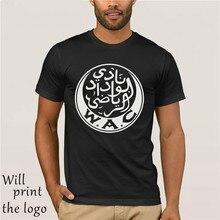 Wydad Atletiek Club Casablanca Wac Marokko Wydad Casablanca Club Mannen T-shirt Casual Camiseta Tees 100% Katoenen T-shirt
