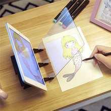 Spiegel Reflexion Zeichnung Board Tablet Digitale Grafiken Pad USB LED Licht Kopie Bord Elektronische Kunst Grafik Malerei Tisch