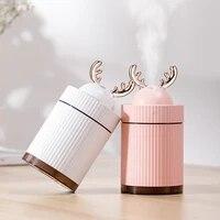 Humidificateur dair USB de 260ml  diffuseur dhuile essentielle et darome pour la maison et le bureau  aromatherapie  avec veilleuse