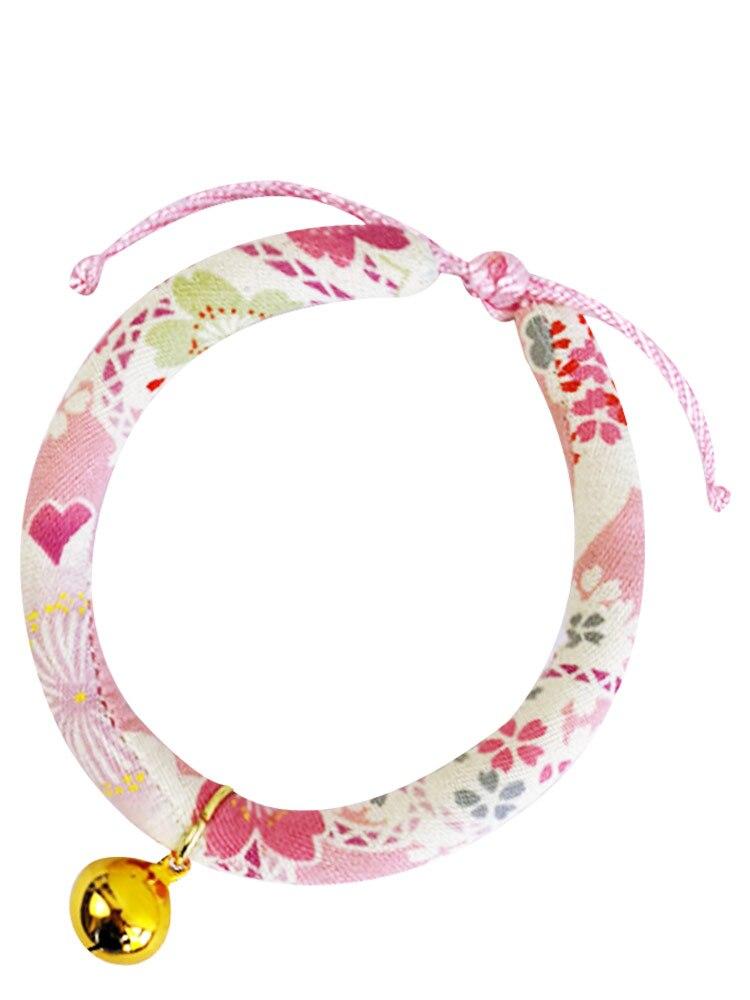 Collar de gato japonés encantador, Collar ajustable, Collar de gato separado con campana, Collar elástico para Chat, accesorios para mascotas YY50CC