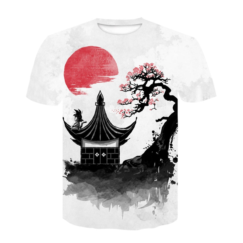 Manga dragon ball Z Super Saiyan Son Goku Anime 3D camiseta verano 2019 lo más nuevo moda camisetas hombres mujeres dibujos animados camiseta Casual