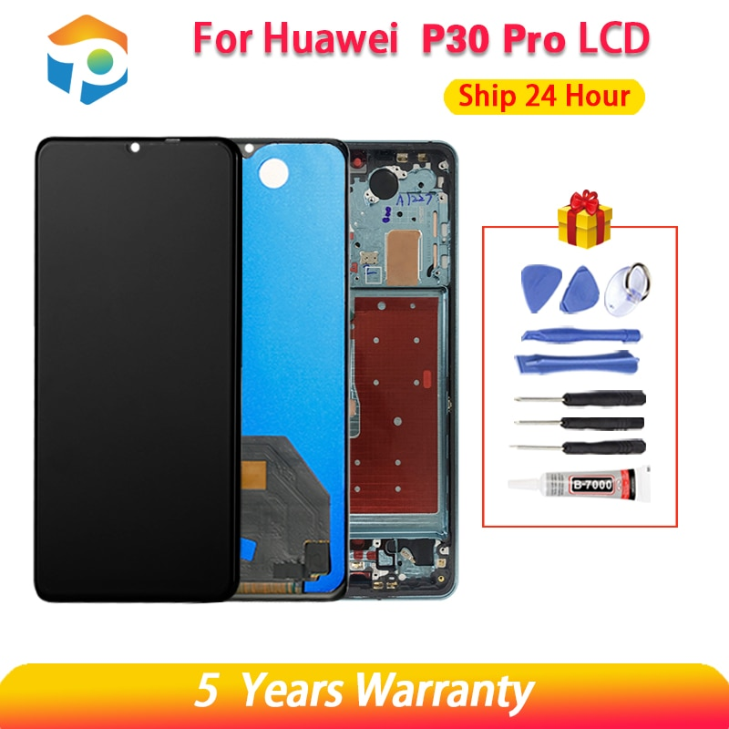 100% New Original LCD For Hua wei P30 Pro LCD Touch Screen Digitizer Assembly Display Hua wei P30Pro LCD VOG-L29 VOG-L09 Display