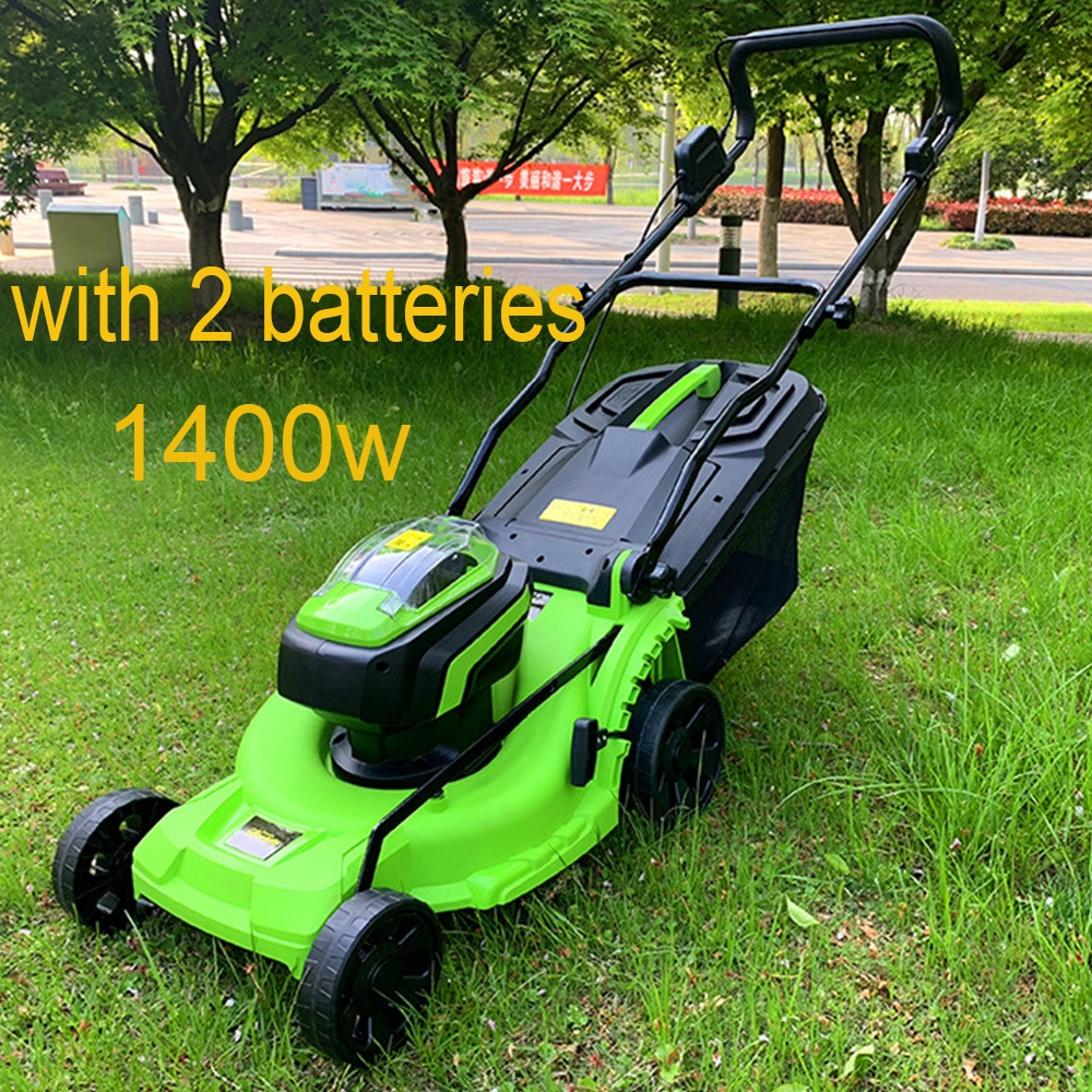 Lawn Mower Electric Household Hand Push Lawn Trimmer  Lawnmower Brushless Lithium Electric Lawn Mower Rechargeable