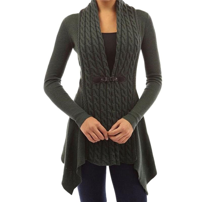 Cardigan Women Twist Knitted Sweater Jacket Coat Cardigan Femme Manche Longue Truien Dames Winter 2019 Lang Roupas Feminina