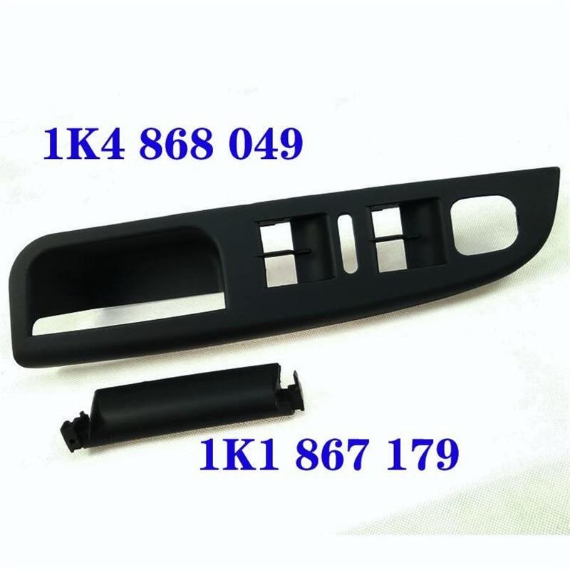Preto  cinza esquerda motorista janela interruptor do painel suporte base maçaneta da porta para v w mk5 golf 2005-2010 oem l1k4 868 049 c h67
