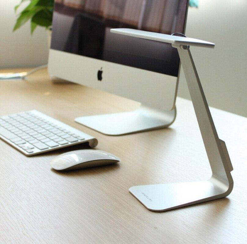 Ultrafino estilo Mac 3 modo atenuación LED lectura estudio escritorio lámpara suave protección de los ojos noche luz plegable Mesa recargable lámpara