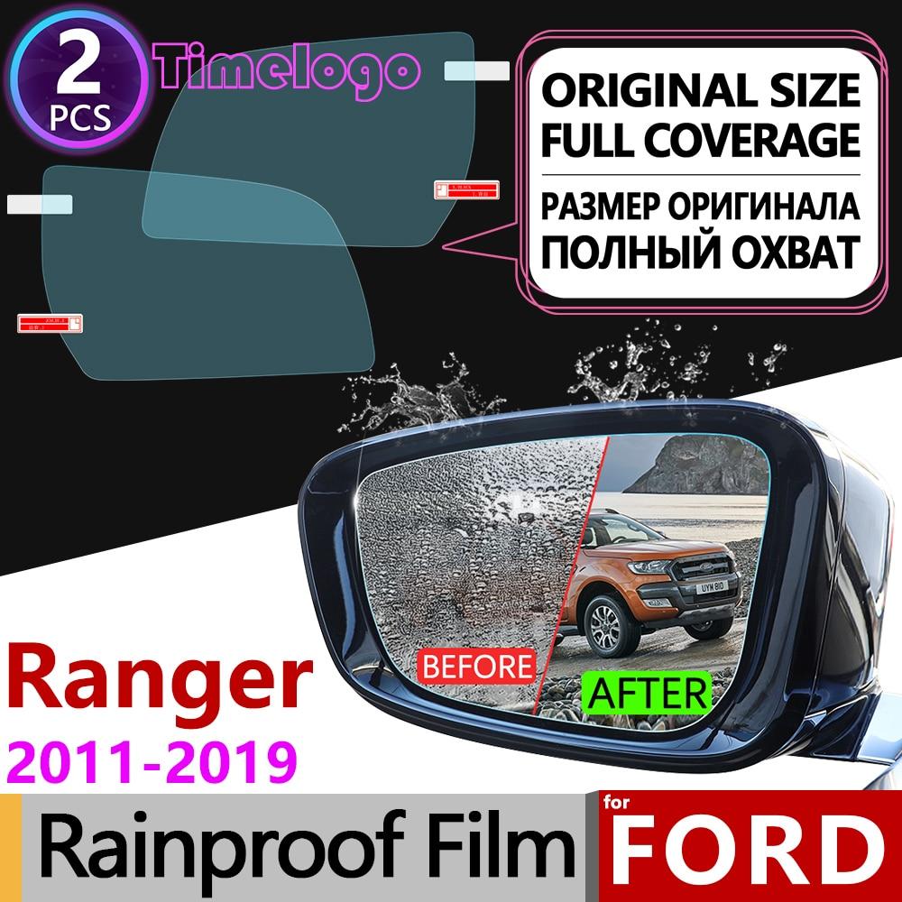 For Ford Ranger T6 2011~2019 Full Cover Anti Fog Film Rearview Mirror Anti-fog Films Accessories Raptor 2012 2014 2016 2017 2018